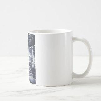 Black and white carousel coffee mug