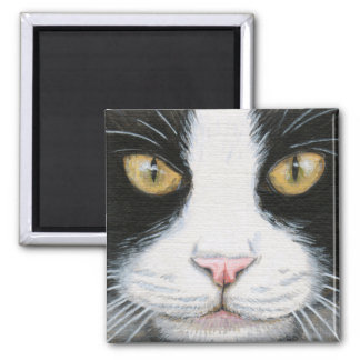 Black and White Cat 1 Magnet