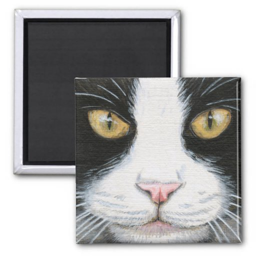 Black and White Cat #1 Magnet