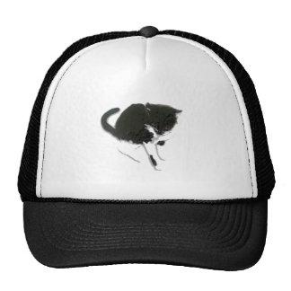Black and White Cat Art Hats