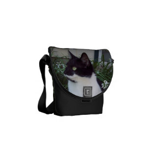 Black and White Cat Bag/purse Messenger Bags