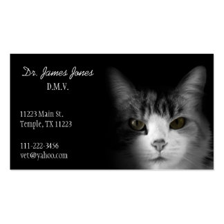 Black and White Cat Business Card
