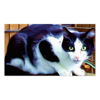 Black and White Cat business cards