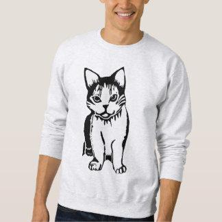 Black and White Cat Men's Sweatshirt