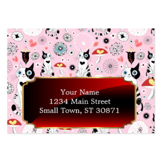 Black and White Cat Pattern For Cat Lovers Pack Of Chubby Business Cards
