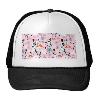 Black and White Cat Pattern For Cat Lovers Cap