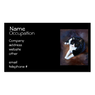 Black and White Cat Portrait Pack Of Standard Business Cards