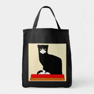 Black and White Cat Portrait Tote Bag