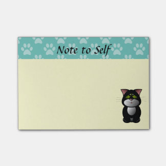 Black and White Cat Post-it Notes