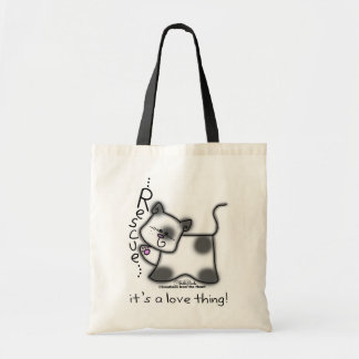 Black and white cat RESCUE...it's a love thing! Canvas Bag