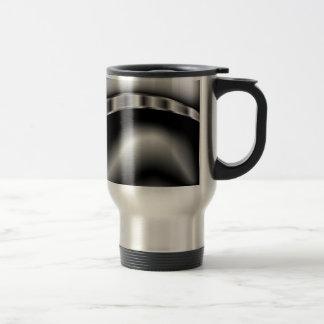 Black and White Caterpillar 15 Oz Stainless Steel Travel Mug