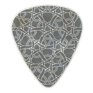 Black and white Celtic pattern Pearl Celluloid Guitar Pick