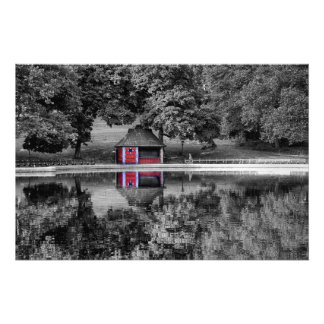 Black and White Central Park Landscape Photo