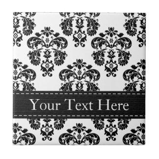 Black and White Ceramic Tile Trivet