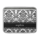 Black and White Chalkboard Damask Pattern Sleeve For MacBook Air