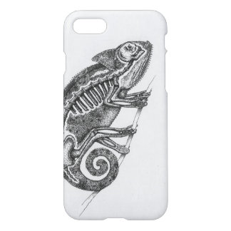 Black and White Chameleon Phone Case