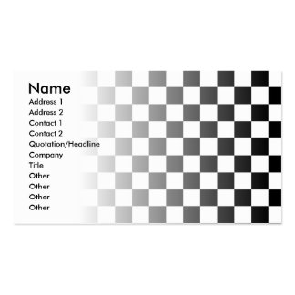 Black and White Check Business Card