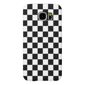 Black and White Check pattern Samsung Galaxy S6 Cases