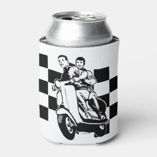 Black and white check scooter riders can cooler