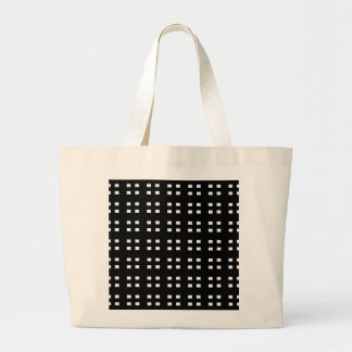 Black and White Checker Canvas Bags