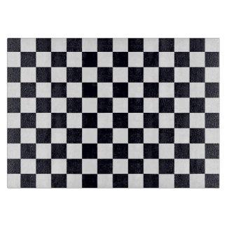 Black and White Checker Pattern Cutting Board