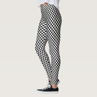 Black and White Checker Pattern Leggings