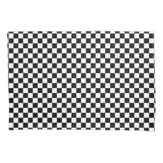 Black and White Checkerboard Pattern Pillowcase