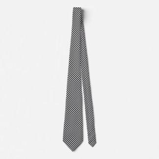 Black and White Checkerboard Pattern Tie