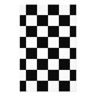 Black and White Checkerboard Retro Hipster Full Color Flyer