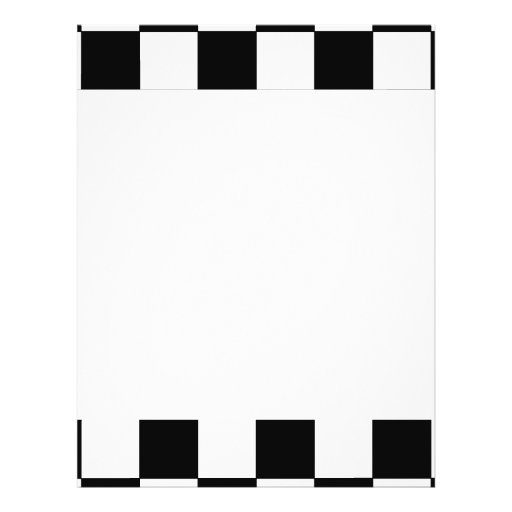 Black and White Checkerboard Retro Hipster Personalized Flyer