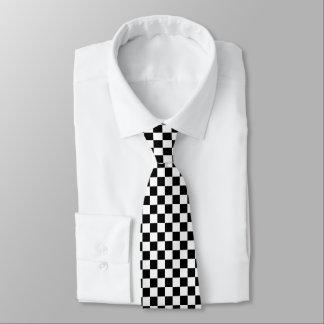Black and White Checkerboard Tie