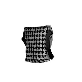 Black and White Checkerboard Weimaraner Messenger Bag