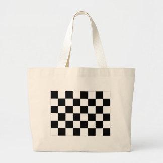 Black and White Checkered Auto Racing Flag Bag