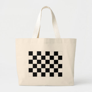 Black and White Checkered Auto Racing Flag Jumbo Tote Bag