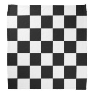 Black And White Checkered Checkerboard Pattern Bandannas