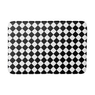 Black and White Checkered Foam Bath Mat Bath Mats
