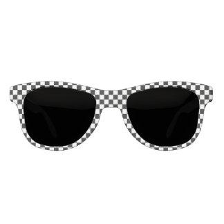 Black And White Checkered Pattern Sunglasses