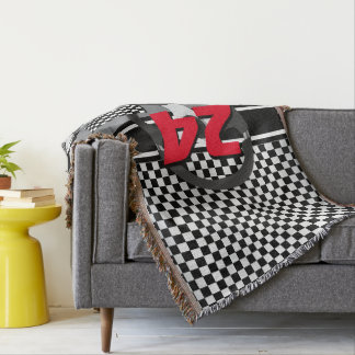 Black and White Checkered Racing Design