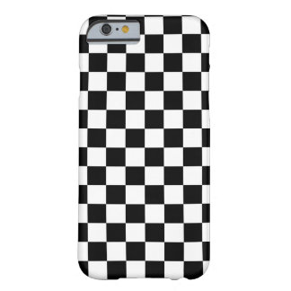 Black and White Checkered Squares Barely There iPhone 6 Case