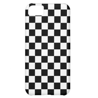 Black and White Checkered Squares iPhone 5C Covers