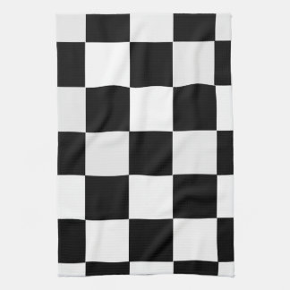 Black and White Checkered Tea Towel