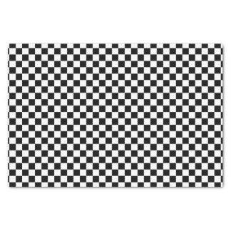Black and White Checks Pattern Tissue Paper