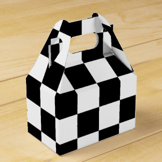 Black and White Chequered Flag Boys Party Gift Box Party Favour Boxes