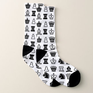 Black and White Chess Piece Pattern 1