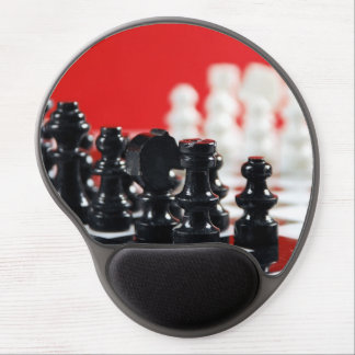 Black and white chess set gel mousepad gel mouse mat