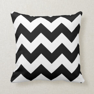 Black and White Chevron Accent Pillow