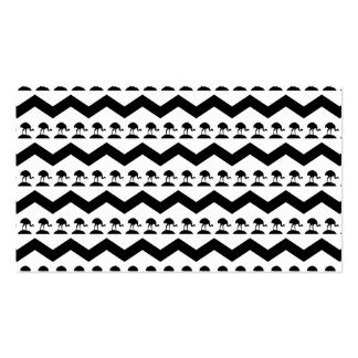 Black and White Chevron and Birds Pattern Pack Of Standard Business Cards