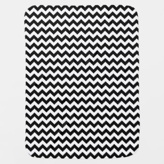 Black and White Chevron Baby Blanket