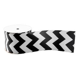Black and White Chevron Classic Design Grosgrain Ribbon