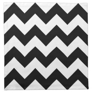 Black and White Chevron Cloth Napkins